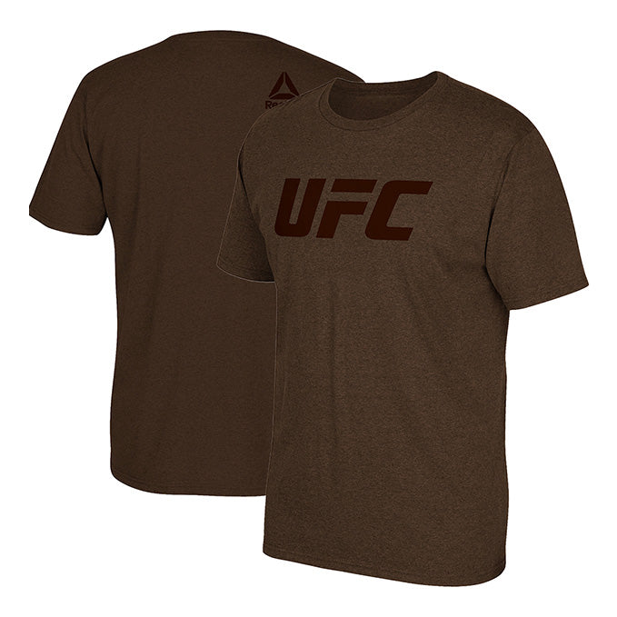 UFC Reebok Tonal Wordmark T-Shirt - Brown