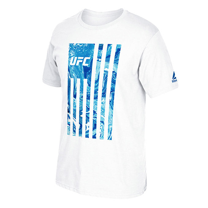 Men's UFC Reebok Vertical Marble Flag T-Shirt