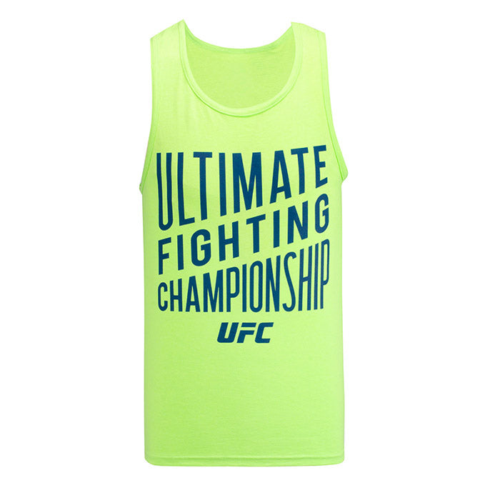 UFC Reebok Ultimate Neon Green Tank
