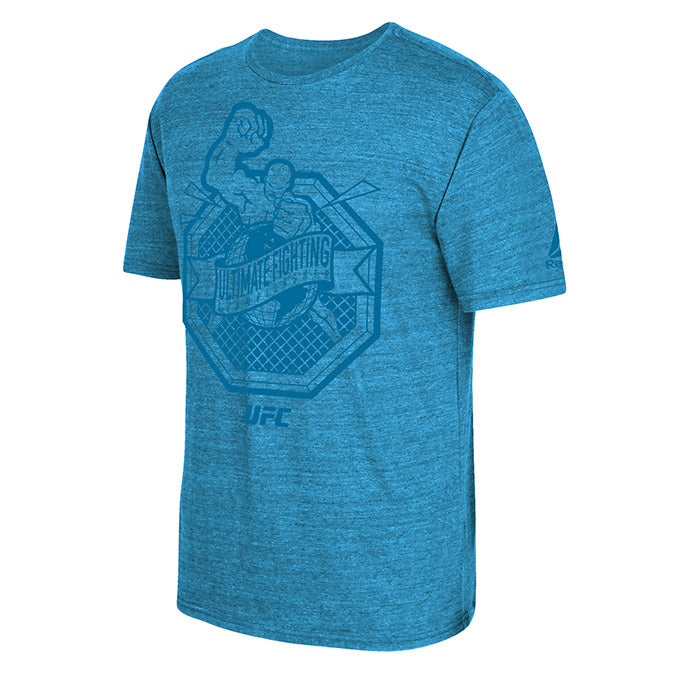 UFC Reebok Ultiman Tonal Cyan Heather T-Shirt
