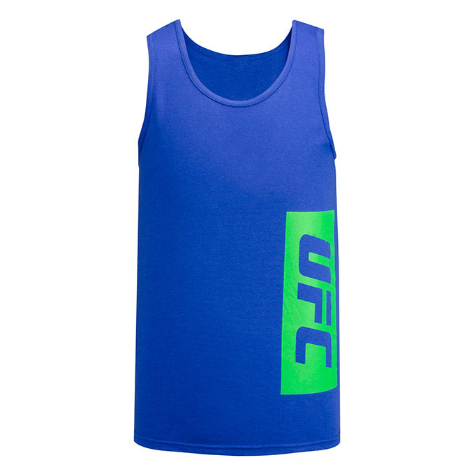 UFC Reebok Vertical Streaks Tank - Royal Blue