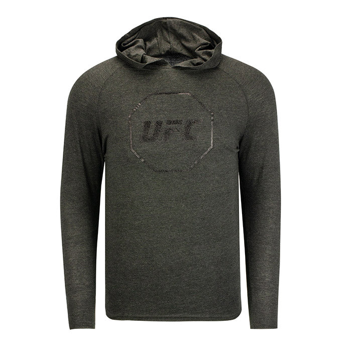 UFC Men's Long Sleeve Hooded T-Shirt - Black Heather