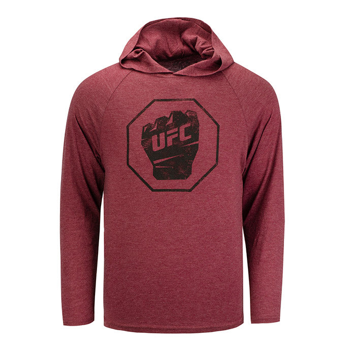 UFC Men's Long Sleeve Hooded T-Shirt - Maroon