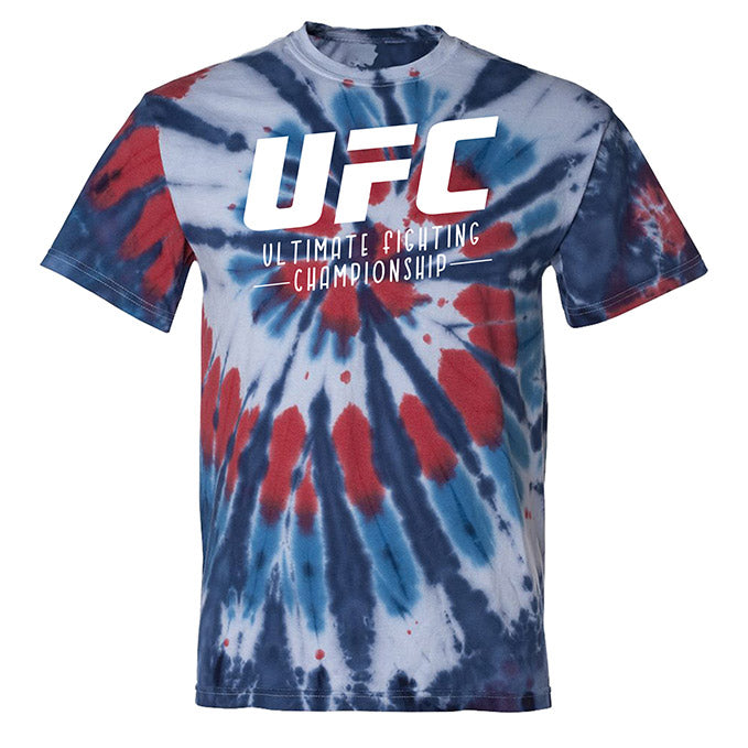 UFC Men's Red, White, & Blue Tie-Dye T-Shirt