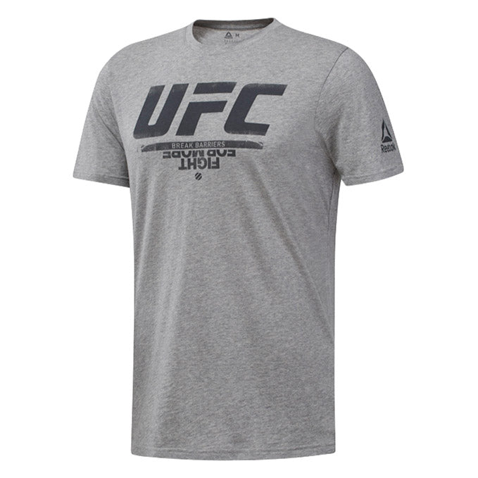 UFC Reebok Fan Gear Logo T-Shirt - Grey