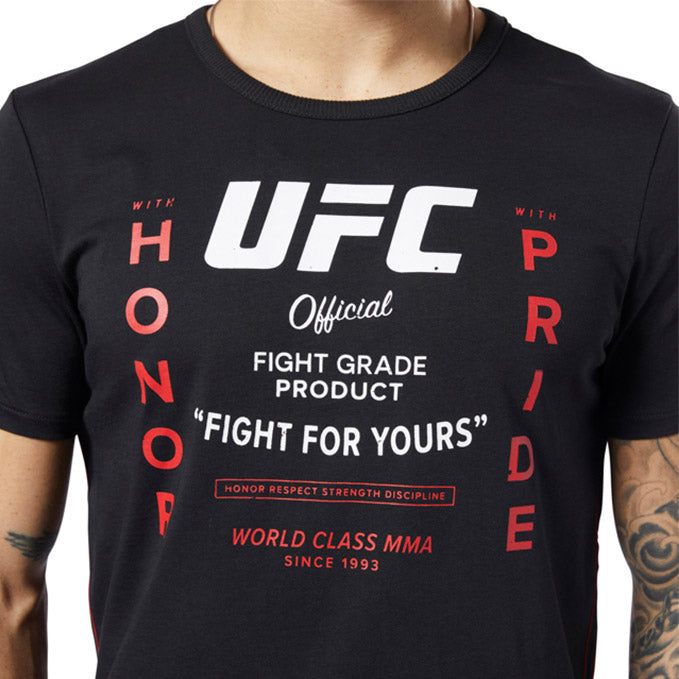UFC Reebok Fan Gear Retro T-Shirt - Black