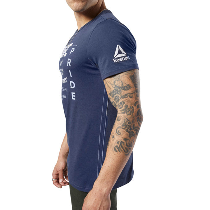 UFC Reebok Fan Gear Retro T-Shirt - Navy