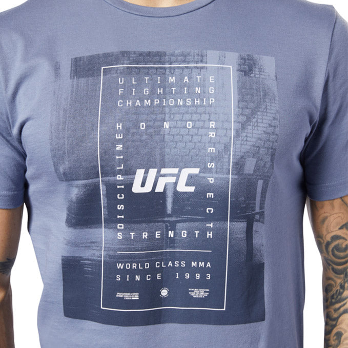 UFC Reebok Fan Gear Text T-Shirt - Navy