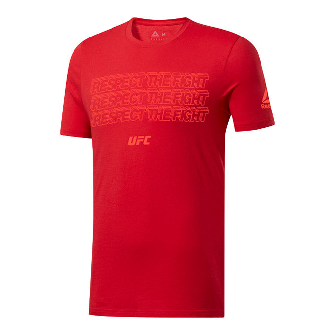 UFC Reebok Fan Gear Text T-Shirt - Red