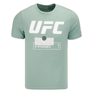 UFC Reebok Fan Gear Text T-Shirt - Green Slate