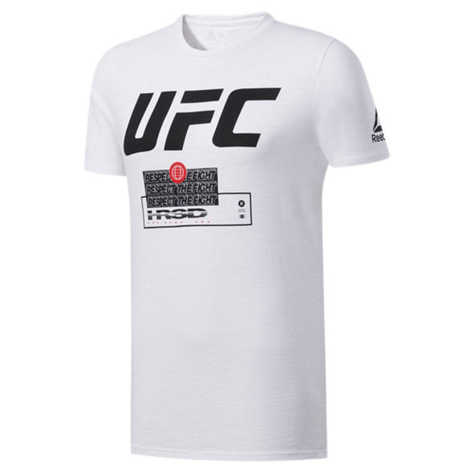 UFC Reebok Fan Gear Fight Week T-Shirt - White