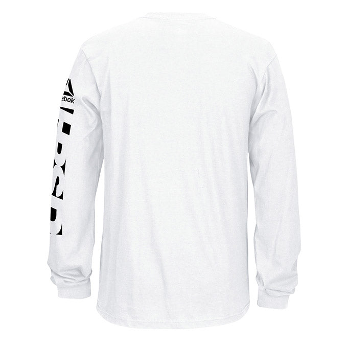 Men's UFC Reebok Fan Gear Fight Week Long Sleeve T-Shirt - White