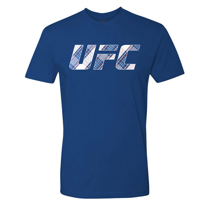 UFC Flannel Fill T-Shirt - Royal Blue