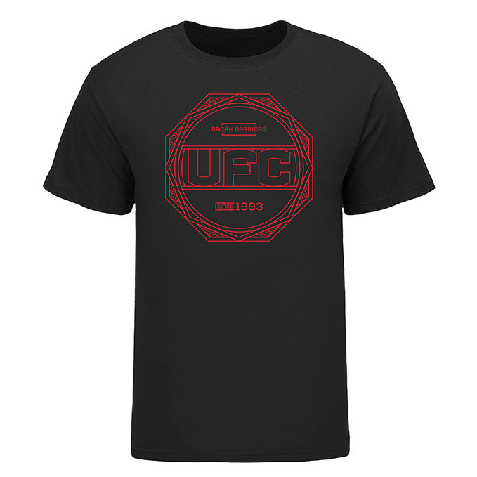 Men's UFC Geo Pattern T-Shirt - Black