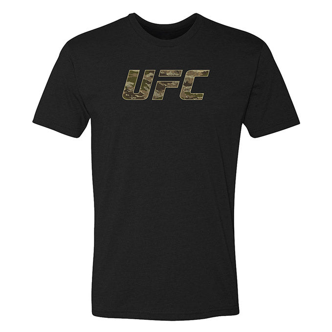 Men's UFC Camo Letters T-Shirt - Black
