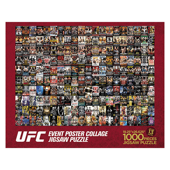 UFC Event Poster Collage Jigsaw Puzzle