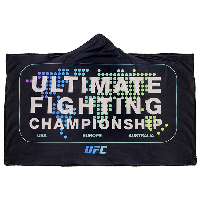 UFC Geometric After Dark Global Hooded Blanket