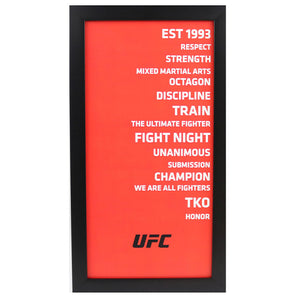 UFC Framed Subway Sign