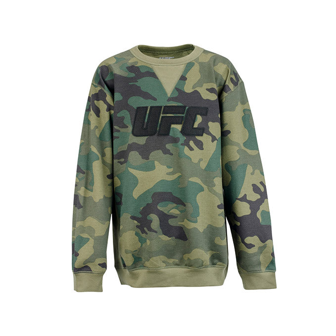 UFC Kids' Camo Fleece Crew Sweatshirt