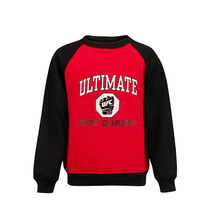 UFC Kids' Classic Raglan Fleece Crew Sweatshirt