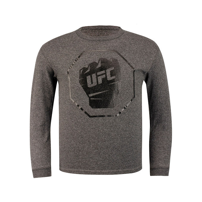 UFC Junior Long Sleeve T-Shirt - Charcoal Heather