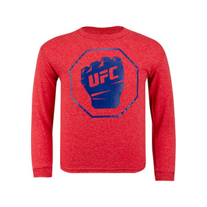 UFC Junior Long Sleeve T-Shirt - Red Heather