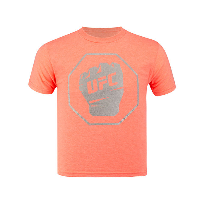 UFC Junior Short Sleeve T-Shirt - Coral Heather