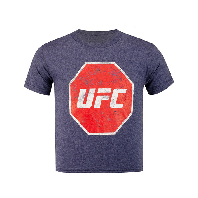 UFC Junior Distressed T-Shirt - Denim Snow Heather
