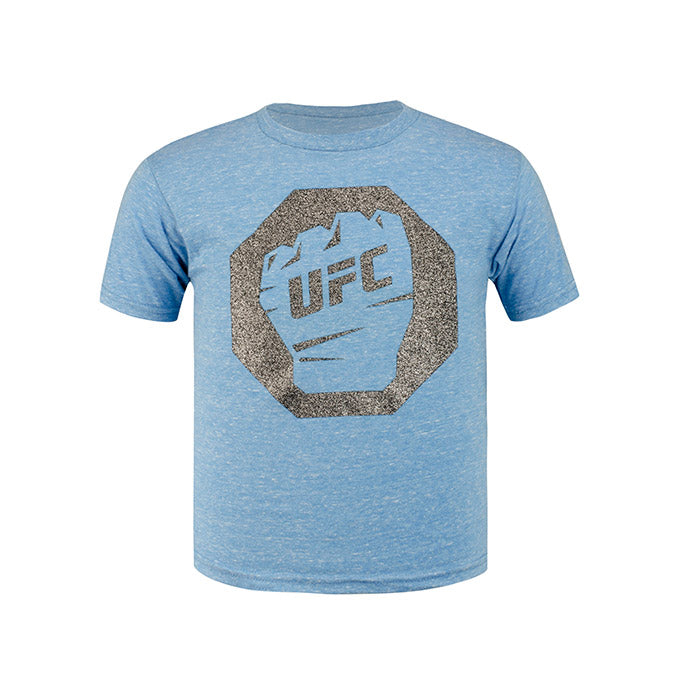 UFC Junior Glitter T-Shirt - Turquoise Snow Heather