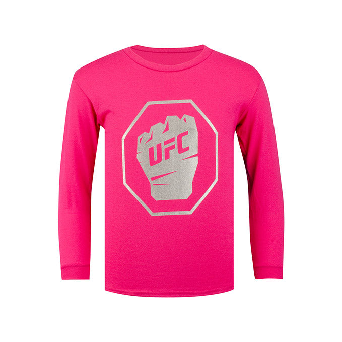 UFC Kids' Long Sleeve T-Shirt - Foil  - Pink