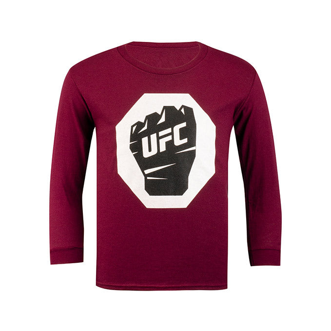 UFC Junior Long Sleeve T-Shirt - Maroon