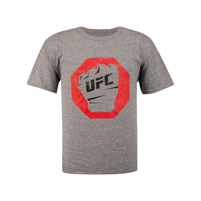 UFC Junior Distressed T-Shirt - Graphite Snow Heather