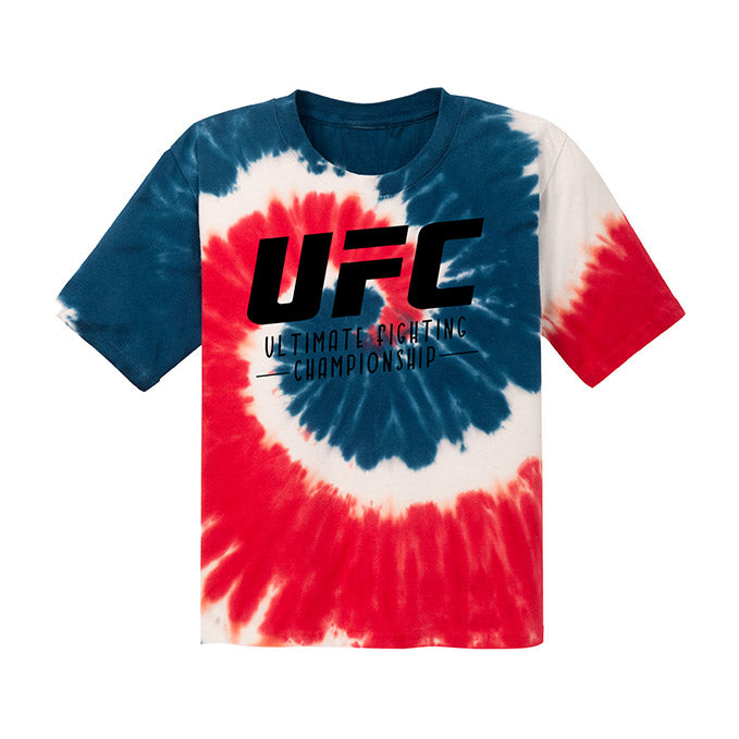 UFC Kids' Red, White, & Blue Tie-Dye T-Shirt