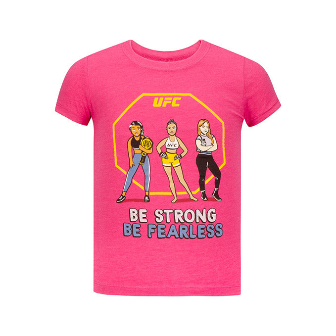 Girls' UFC Fearless T-Shirt - Raspberry