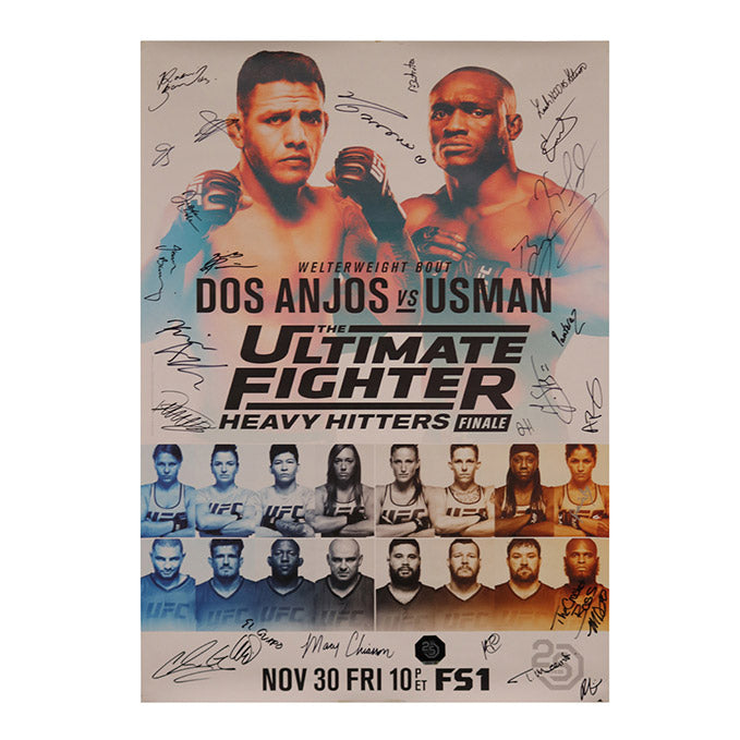 The Ultimate Fighter 28 Finale: Heavy Hitters Autographed Event Poster