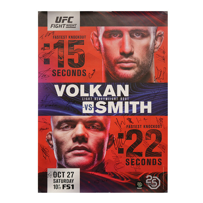 UFC Fight Night 138 - Moncton (Volkan vs. Smith) Autographed Event Poster