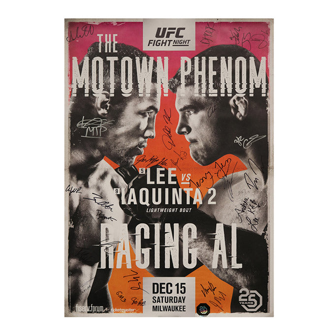 UFC on Fox 31 - Milwaukee (Lee vs. Iaquinta 2) Autographed Event Poster