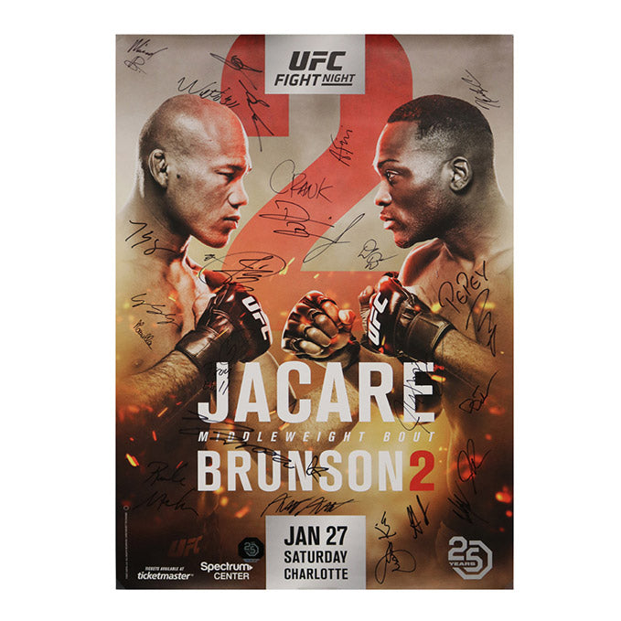 UFC on Fox 27 - Charlotte (Jacare vs. Brunson 2) Autographed Event Poster