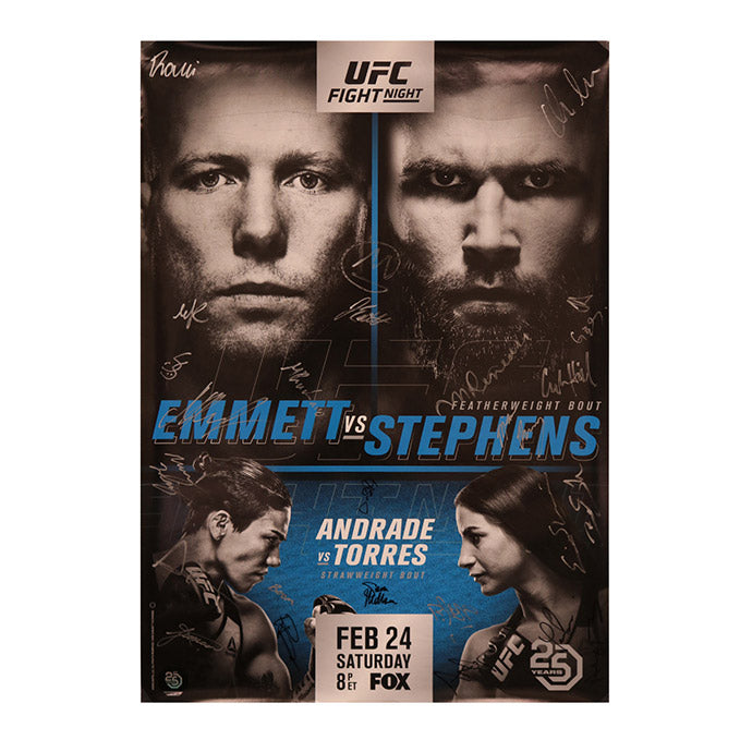 UFC on Fox 28 - Orlando (Emmett vs. Stephens) Autographed Event Poster