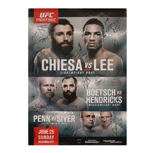 UFC Fight Night 112 - Oklahoma City (Chiesa vs. Lee) Autographed Event Poster
