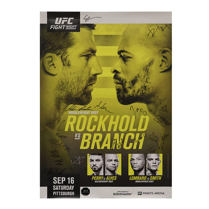 UFC Fight Night 116 - Pittsburgh (Rockhold vs. Branch) Autographed Event Poster