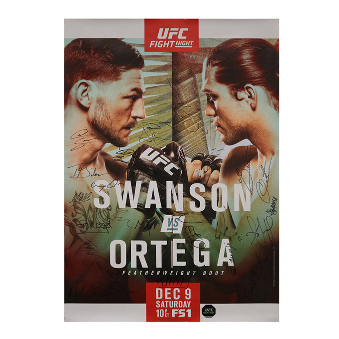 UFC Fight Night 123 - Fresno (Swanson vs. Ortega) Autographed Event Poster