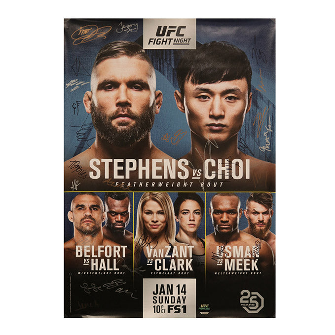 UFC Fight Night 124 - St. Louis (Stephens vs. Choi) Autographed Event Poster