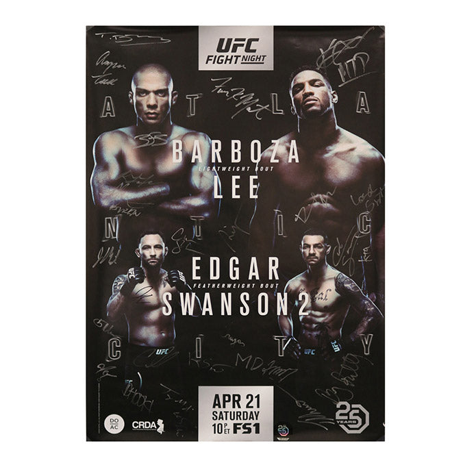UFC Fight Night 128 - Atlantic City (Barboza vs. Lee) Autographed Event Poster