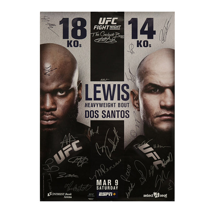 UFC Fight Night 146 - Wichita (Lewis vs. dos Santos) Autographed Event Poster