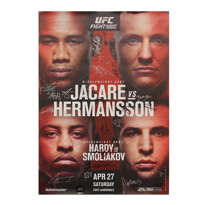 UFC Fight Night 150 - Ft. Lauderdale (Jacare vs. Hermansson) Autographed Event Poster