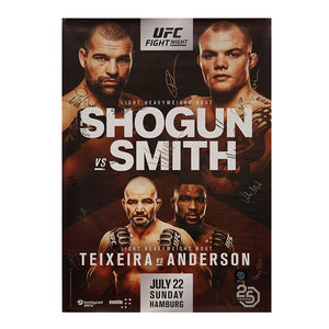 UFC Fight Night 134 - Hamburg (Shogun vs. Smith) Autographed Event Poster