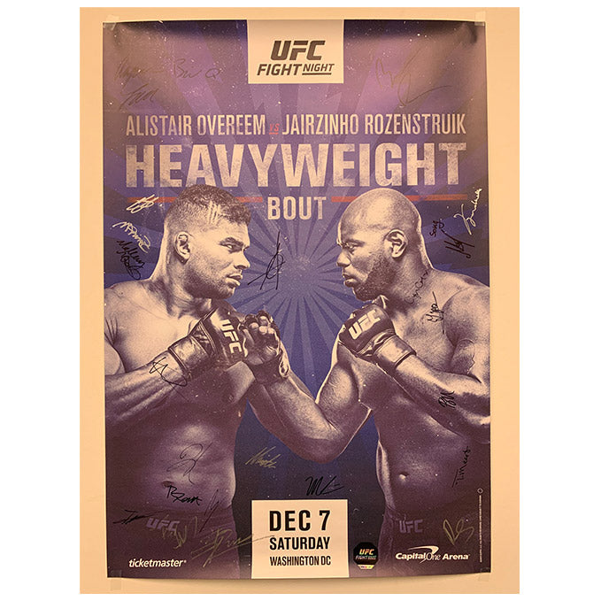 UFC ON ESPN 7 - Washington D.C. (Overeem vs. Rozenstruik) Autographed Event Poster