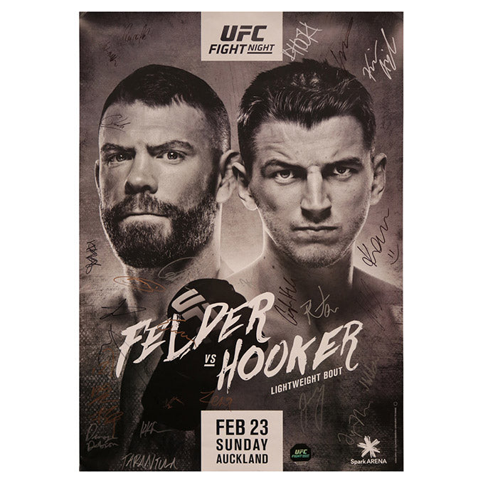 UFC Fight Night 168 - Auckland (Felder vs. Hooker) Autographed Event Poster