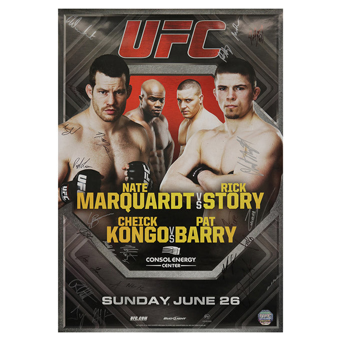 UFC on Versus 4 - Pittsburgh (Kongo vs. Barry) Autographed Event Poster